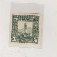 BOSNIA AND HERZEGOVINA AUSTRIA 1906 2 K  Imperforated Hinged - Bosnie-Herzegovine