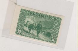 BOSNIA AND HERZEGOVINA AUSTRIA 1906 30 H   Imperforated Hinged - Bosnie-Herzegovine