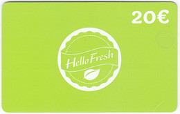 Gift Card A-486 Austria - Hello Fresh / Food - Used - Gift Cards