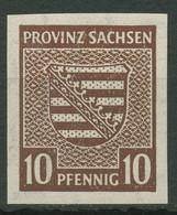 SBZ Provinz Sachsen 1945 Provinzwappen 72 Postfrisch - Zona Sovietica