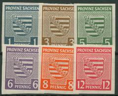 SBZ Provinz Sachsen 1945 Provinzwappen Mit WZ Fallend 66/71 X Postfrisch - Zona Sovietica