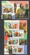 ST195 2015 GUINEE GUINEA FAMOUS PEOPLE 25TH ANNIVERSARY LIBERTY OF NELSON MANDELA KB+BL MNH - Prix Nobel