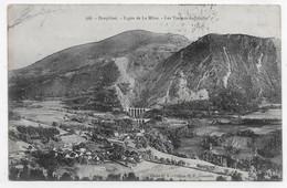 (RECTO / VERSO) LA MURE EN 1908 - N° 568 - LIGNE DE LA MURE - LES VIADUCS DE LOULLA - CPA - La Mure