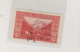 BOSNIA AND HERZEGOVINA 1906 10 H  Mixed Perforation Used - Bosnie-Herzegovine