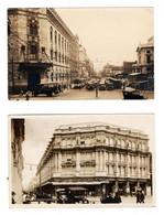 2 Old Postcards, Mexico, Mexique, Train, Cars, 1930 - Mexique