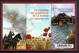 2014 - Bloc Feuillet Oblitéré F 4899 BATAILLE DE LA MARNE Les Taxis De La Marne - Fleur Coquelicot - Afgestempeld