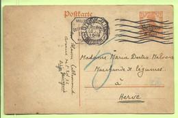 Entier Stempel LUTTICH Op 10/10/1918 , Getaxeerd Met 5c (blauw Potlood) (2690* - [OC1/25] Gov. Gen..