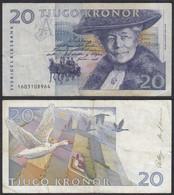 Schweden - Sweden 20 Kronor Banknote 1991-2 Pick 61a - F (4)    (29284 - Sweden
