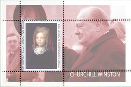 Famous PRESIDENTS SIR Winston CHURCHILL, De Goulle, King Jeorge, Stalin, Truman, Berühmte Präsidenten. NEW 20 Blocks! - Sir Winston Churchill