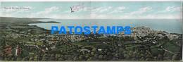 168652 PANAMA VIEW OF THE BAY DOUBLE DOBLE POSTAL POSTCARD - Panama