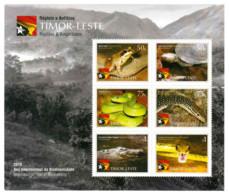 TIMOR LESTE MICHEL BL 2 MNH** REPTILES SNAKES TURTLES - East Timor
