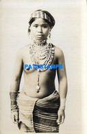 168685 PHILIPPINES COSTUMES NATIVE WOMAN SEMI NUDE PHOTO NO POSTAL POSTCARD - Filippine