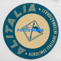 168691 AVIATION PUBLICITY ALITALIA AEROLINEA ITALY LUGGAGE NO POSTAL POSTCARD - Non Classés