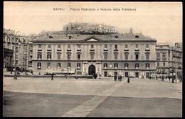 Italia - Circa 1900 - Cartolina Postale - Napoli - Piazza Plebiscito E  Palazzo Della Prefettura - A1RR2 - Napoli