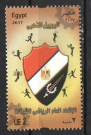 Egypt 2017 General Federation Of Sports Companies. Sports. Basketball. Soccer. Volleyball. Badminton. Tennis. Golf MNH - Ungebraucht