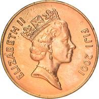 Monnaie, Fiji, Elizabeth II, 2 Cents, 2001, Royal Australian Mint, Canberra - Fiji