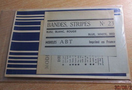 ABT21 Très Rare Décal Années 60/70 ABT : SERIE BANDES & FILETS N°23 BLEU BLANC ROUGE - Decalcografie