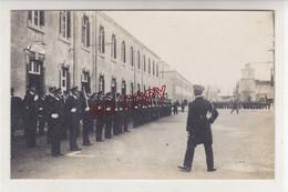 Carte Photo Brest Ecole Navale Présentation Au Drapeau De La Nouvelle Promotion 5 Octobre 1934 - Caserme
