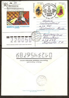 Kyrgyzstan / Kirgisien 1995●National Costumes●Falcon●●Volkstrachten●Complet Set On 2x R-Letters To Lithuania - Kyrgyzstan