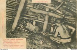 MINE MINEURS AU PAYS NOIR. Veine Moyenne 1908 (pli Coin Gauche) - Mines