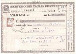 £400 CASTELLI BOBINA SU VAGLIA - 1981-90: Poststempel