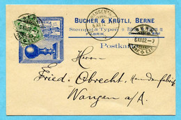 Illustrierte Postkarte Bern 1902 - Absender: Bucher & Krütli - Storia Postale