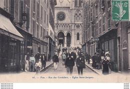 D64  PAU  Rue Des Cordeliers Église Saint Jacques ...............  Avec Coiffeur à Gauche  ...... Carte Peu Courante - Pau