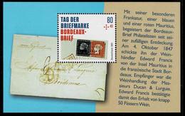Bund 2021,Michel# Block 88 ** Tag Der Briefmarke: Bordeaux-Brief - Ongebruikt