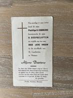 Communie - Alfons BAETENS - 1958 - St. Lambertus - MUIZEN - Kommunion Und Konfirmazion