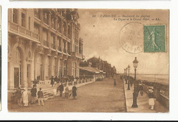 Calvados , Cabourg , Boulevard Des Anglais , La Digue Et Le Grand Hôtel - Cabourg