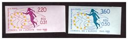 Timbre Non Dentelé Paire UNESCO  N° 100 Et 101 *** - Imperforates