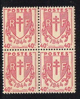 FRANCE ( POSTE ) : SPINK/MAURY  N°  672  X  4  TIMBRES  NEUFS  SANS  TRACE  DE  CHARNIERE  .  A  SAISIR . - 1945-47 Ceres Of Mazelin