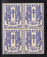 FRANCE ( POSTE ) : SPINK/MAURY  N°  673  X  4  TIMBRES  NEUFS  SANS  TRACE  DE  CHARNIERE .  A  SAISIR . - 1945-47 Ceres Of Mazelin
