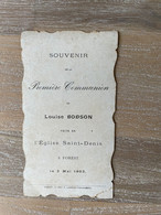 Communion - Louise BODSON - 1903 - Saint-Denis - FOREST / Imp. F. Lambin - Theunissen VORST - Communion