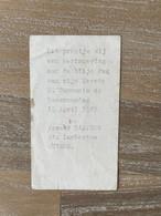 Communie - Armand BAETENS - 1965 - St. Lambertus - MUIZEN - Kommunion Und Konfirmazion
