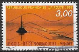 1998 Frankreich Mi. 3288 Used   Tourismus.:  Gois De Noirmoutier (Damm Zur Insel Noirmoutier), Rettungsturm - Gebruikt