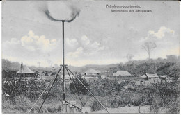 Cpa SUMATRA - Petroleum Boorterrein / Verbranden Der Aardgassen . Cachet Perbaoengan . - Indonesia