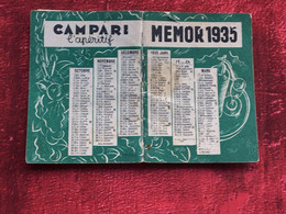 MEMOR 1935-Agenda-☛Vadémécum De Poche Pour Tous-☛Publicités-Vie Familiale-sociale-Tarifs Postaux-radiodiffusion-Calculs- - Sonstige