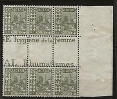 Algérie: N°45** Bloc D'une Planche Pour Confection De Carnet (voir Description) - Unused Stamps