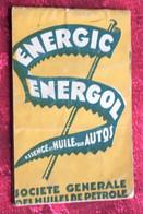 Bloc Notes Vadémécum Energol Essence Huile Pr Voiture Automobile--☛-Agenda-☛Sté Générale Huiles Pétrole-Publicités - Sonstige