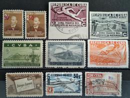 CUBA - Lot 10 Timbres (4 * / 6 O - Voir Scan) - Collezioni & Lotti