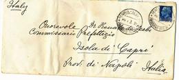 1937 PIROSCAFO POSTALE GENOVA NEW YORK PIROSCAFO REX SU BUSTA INTESTATA - Storia Postale