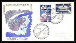 11046/ Espace (space Raumfahrt) Lettre (cover) France 3/7/1965 Salon Aeronautique Spacial Toulouse - Europa