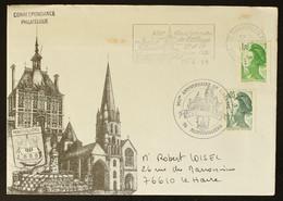 76 - Montivilliers 950é Anniversaire De L'Abbaye + Cachet Commémoratif 1985 - Mechanische Stempels (reclame)
