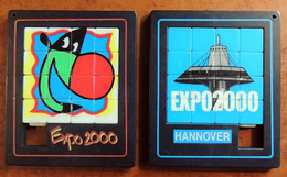 1 Taquin - Pousse Pousse - Expo 2000 - HANNOVER - Double Face - Rompicapo