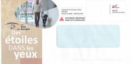 Enveloppe Personnalisée  Les Amis Des Aveugles Des étoiles Dans Les Yeux Avec Chien Hond Dog Perro - Sellos Privados