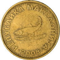 Monnaie, Macédoine, 2 Denari, 2008, TTB, Laiton, KM:3 - Macedonia