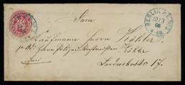 TREASURE HUNT [00677] Prussia 1866 Cover Sent Within Berlin Bearing 1 Sgr. Carmine Single Franking - Pruisen