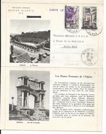 Algérie: Carte-lettre De 1938 Réutilisée Après L'indépendance Avec Timbres Surchargés EA - Cartas