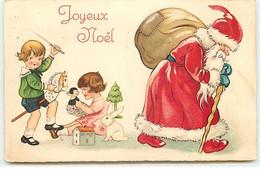 Joyeux Noël - Père Noël Partant, Pendant Que Les Enfants Jouent - Other